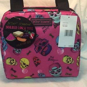NWT Betsey Johnson lollipop lunch tote
